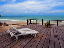 At the beach Royalty Free Stock Photos