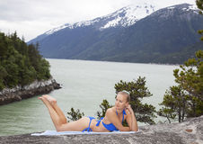 Beach Day in Alaska Stock Image