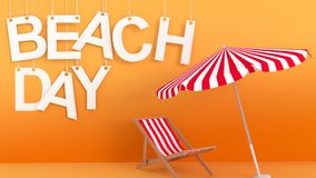 Beach Day hanging letters Stock Image