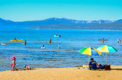 Beach Day - Lake Tahoe, Nevada Stock Photography