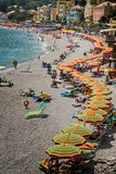 Beach Day at Monterosso al Mare Cinque Terre Royalty Free Stock Images