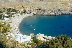 Beach Day. Spending a day at the beach in Rhodes Stock Photography
