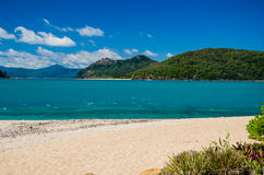 Beach on Daydream Island. View from Daydream Island into the island world of the Whitsundays Royalty Free Stock Images