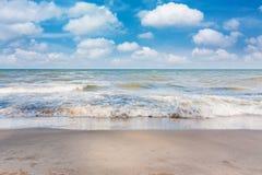 Beach on daylight summer season Royalty Free Stock Photo