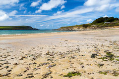 Beach at Daymer Bay Cornwall Stock Photo
