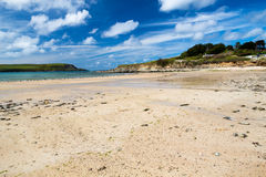 Beach at Daymer Bay Cornwall Stock Image
