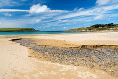 Beach at Daymer Bay Cornwall Stock Images