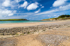 Beach at Daymer Bay Cornwall Royalty Free Stock Images