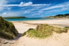 Beach at Daymer Bay Cornwall Stock Photo