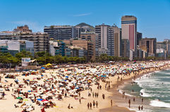 beach de ipanema janeiro里约 库存图片