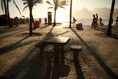 beach de ipanema janeiro里约 免版税库存图片
