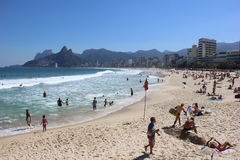 beach de ipanema janeiro Ρίο Στοκ φωτογραφία με δικαίωμα ελεύθερης χρήσης