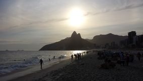 beach de ipanema janeiro Ρίο Στοκ Φωτογραφία
