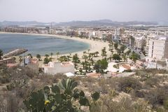 beach de mazarron puerto 库存图片
