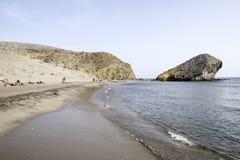 Beach de monsul, cabo de gata, andalusia, spain, europe, view Stock Photography