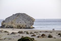 Beach de monsul, cabo de gata, andalusia, spain, europe, view Stock Images