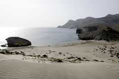 Beach de monsul, cabo de gata, andalusia, spain, europe, view Royalty Free Stock Photos