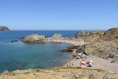 Beach of de Ras cape in Colera, Costa Brava, Royalty Free Stock Image