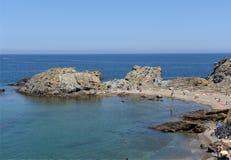 Beach of de Ras cape in Colera, Costa Brava, Stock Image