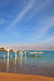 The beach on  the Dead Sea Royalty Free Stock Images