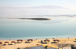 Beach on the Dead Sea Stock Photo