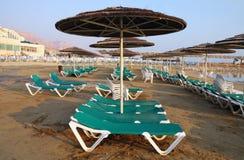 Beach on the Dead Sea Stock Photography