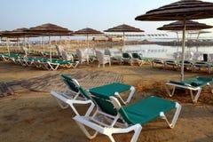 Beach on the Dead Sea Stock Photos
