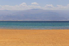 Beach at Dead Sea. View on beach at Dead Sea, Israel Royalty Free Stock Image