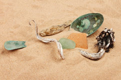 Beach debris Stock Photography