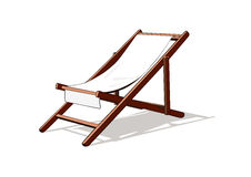 Beach deck chair Stock Images