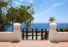 Beach decoration at the luxury hotel Stock Photography