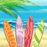 beach del este garzon拉古纳punta唯一海浪时间乌拉圭通知 向量例证