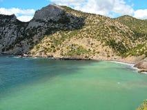 Beach del rey famoso en Crimea Imagen de archivo libre de regalías