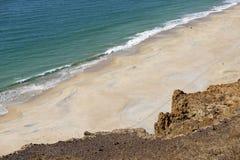 The beach. Desert beach in west Africa Stock Photos