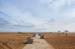 beach deserted Στοκ Φωτογραφίες