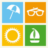 Beach design Stock Photography