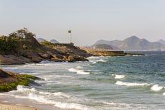 Beach. Devil Beach in Ipanema, Rio de Janeiro Royalty Free Stock Images