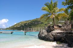Beach. Dinghy dock in Tortola royalty free stock photos
