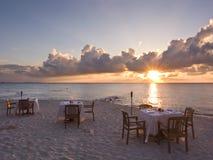 Beach Dinner Stock Photo