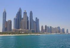 Beach of district Marina in Dubai Royalty Free Stock Photos