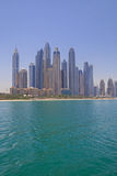 Beach of district Marina in Dubai Stock Photography