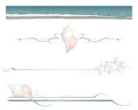 Beach divider lines Stock Photos