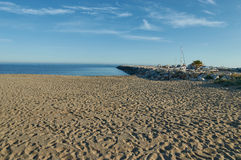 Beach and dock of Marbella Stock Images