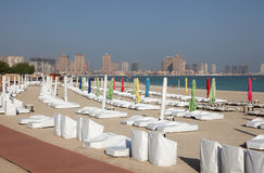 Beach in Doha, Qatar royalty free stock image