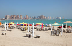Beach in Doha, Qatar Stock Photo