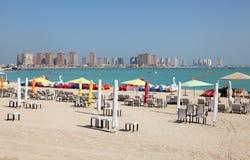 Beach in Doha, Qatar Stock Photo
