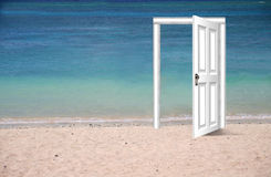 Beach door Royalty Free Stock Photography