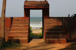 Beach doorway Royalty Free Stock Photography