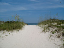 beach dostępu Zdjęcie Stock
