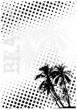 Beach dots poster background 2 Stock Photo